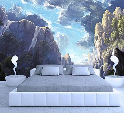 3D vliesbehang fotobehang abstracte natuur mist berg wolk 3D fotobehang voor beddengoed kamer sofa achtergrond Natuur 430*300 430 x 300.