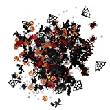 Sharplace Pochette de Confettis de Table Motif Citrouille Etoile Sorcière Chauve-Souris pour Halloween 15g