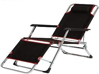 DaQingYuntur Recliner Folding Lunch Break Chair Office Lunch Break Chair Beach Lounge Chair, fit Human Body Curve, Outdoor Leisure Travel Recliner