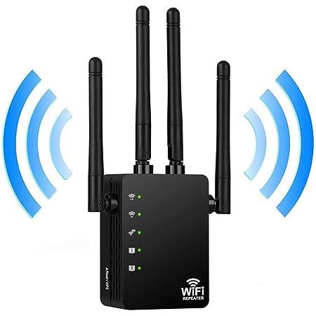 ieGeek Repetidor WiFi, AC 1200Mbps 2.4GHz 5GHz Multifunción Amplificador de Rango WiFi Extender con Función WPS