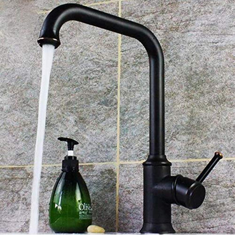 FZHLR Küchenarmatur Schwarz 360 Grad Drehbare Küchenspüle Hahn-Mischer Küchenwasserhahn Vanity Luxus Wasserhahn