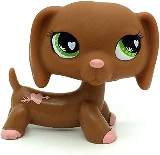 ZAD Littlest Pet Shop Collection LPS Green Eyes Brown Daschund Dog Toy #556