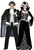 Femmes et Hommes Couples Noir/Blanc Royal Déguisement de Vampire Halloween Costume...