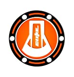 """Protector adhesivo """"Fuel Cap"""" para tapones del depósito de gasolina. Producto compatible con motocicletas KTM Duke 6902012- 2017GP-449 naranja"""