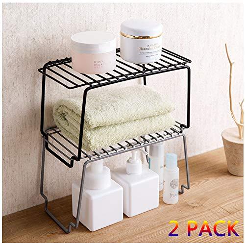 Küchenregal,Kleines Gewürzregal Metall, Stapelbarer Küchen Organizer Für Geschirr Und Vorräte,2 pcs