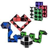 Hotupark 8 Stücke 24 Knoten Magische Schlange Spielzeug,Mini Schlange Würfel,Puzzle...
