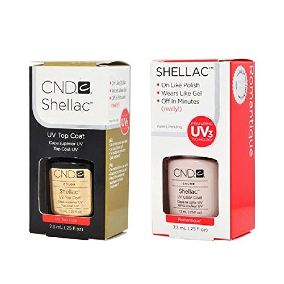 セラー人形ロデオCND Shellac UVトップコート 7.3m l  &  UV カラーコー< Romantique>7.3ml [海外直送品]