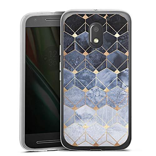 DeinDesign Silikon Hülle kompatibel mit Lenovo Moto E3 Case Schutzhülle Diamant Muster Abstrakt