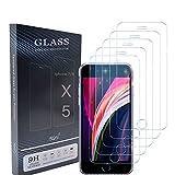 UNO' Protector Pantalla 5 Unidades, Protector Pantalla Cristal Templado Compatible Con Iphone 7 Y Iphone 8 Vidrio Templado Hd Apto Para Iphone 7 Y Iphone 8.