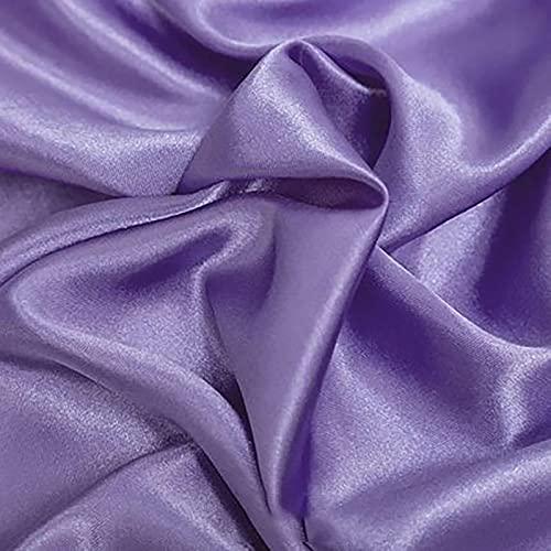 Yimihua Tela De Raso Suave y Brillante para Manualidades de Bricolaje Suministros para Fiestas Vestuario Tapicería Ropa de Baile Confección, Boda, graduación, Costura 60'- 150 cm de Ancho(Color:4#)
