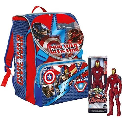 Zaino Captain America Civil War Con Personaggio 30 cm
