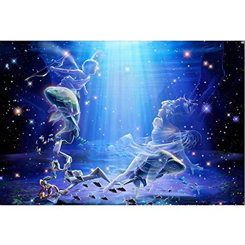 NO BRAND Puzzle Rompecabezas-500/1000 12 Madera Adultos del Zodiaco Rompecabezas Animado Regalo de cumpleaños Juguetes educativos for niños (Piscis) (Size : 500 Pieces)