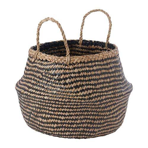 IKEA/イケア KRALLIG:バスケット25cm シーグラス/ブラック(904.619.35)