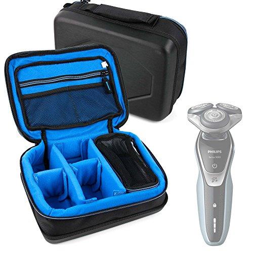 DURAGADGET Bolsa Acolchada Profesional Negra con Compartimentos para maquinilla de Afeitar/Corta Pelo...