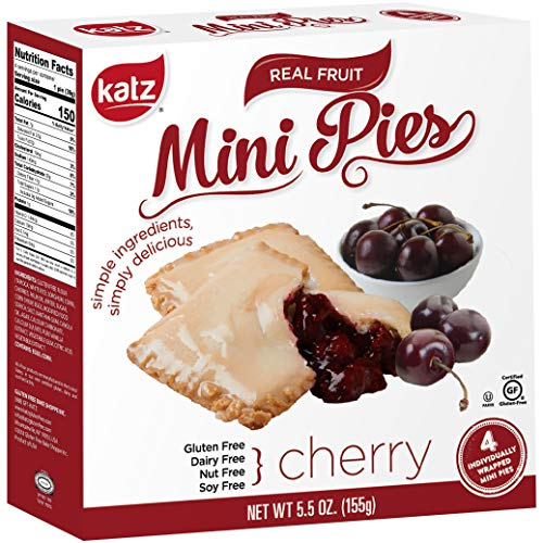 Katz Gluten Free Cherry Mini Pies | Dairy Free, Nut Free, Soy Free, Gluten Free | Kosher (3 Packs of 4 Mini Pies, 5.5 Ounce Each)