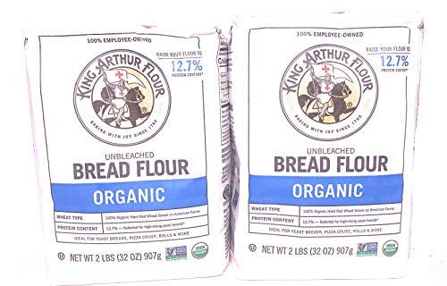 King Arthur Organic Bread Flour 2 lb Bags (2)