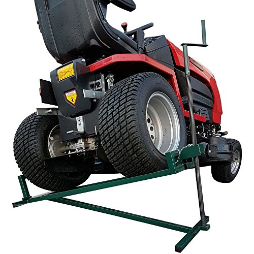 BMS Elevador de césped 400 kg dispositivo de elevación rampa paseo en cortacésped jardín tractor Jack