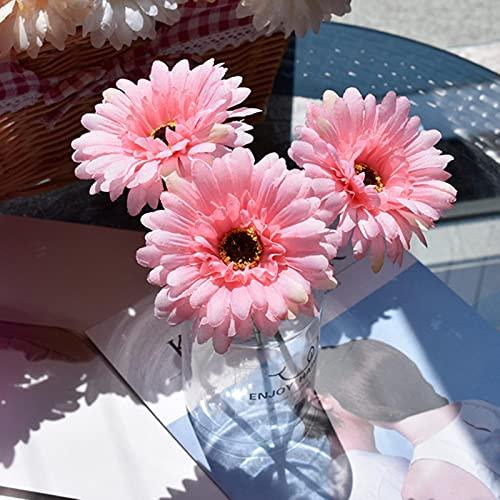 3 uds decoración de Flores Artificiales Tela de Seda Gerbera Boda Mango de Flores decoración de Fiesta Flor decoración de Oficina en casa