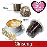50 Kapseln Nespresso Kaffee Kompatibel Ginseng Kaffee - Hergestellt in Italien - Kickkick Kaffee