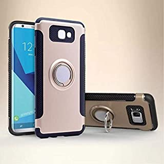 For Samsung Galaxy J5 Prime Kılıf G570F Yüzük Standlı Koruma Kabı + J5 PRİME Kırılmaz Cam