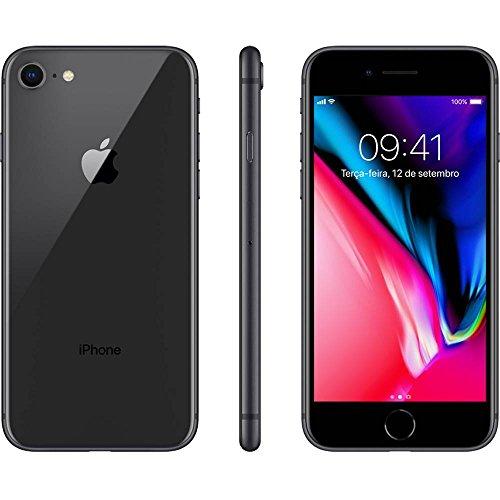 IPhone 8 Apple 256GB Cinza Espacial Tela Retina HD 4,7 IOS 11 4G e Câmera de 12