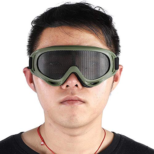 Demeras Carbon Steel Sunglass Stirnband Googles für Paintball(Military Color)