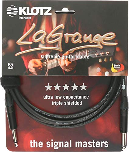 KLOTZ LaGrange - Cable para guitarra supreme, con muy baja capacidad, triple...