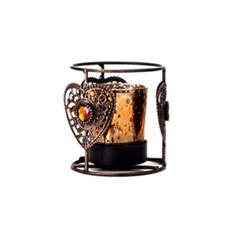 過度にドアミラー誤解YYFRB ヴィンテージの丸い金属の燭台、創造的な家の装飾、バーのロマンチックな結婚式の誕生日プレゼント ローソク足