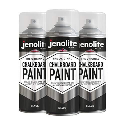 JENOLITE - Pintura en aerosol para pizarra (400 ml), color negro