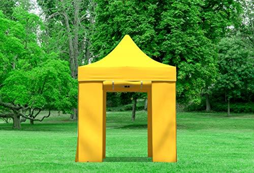 51oRkKJE5yL - Stabilezelte Faltpavillon 2x2 Meter Professional mit Fensterseiten gelb