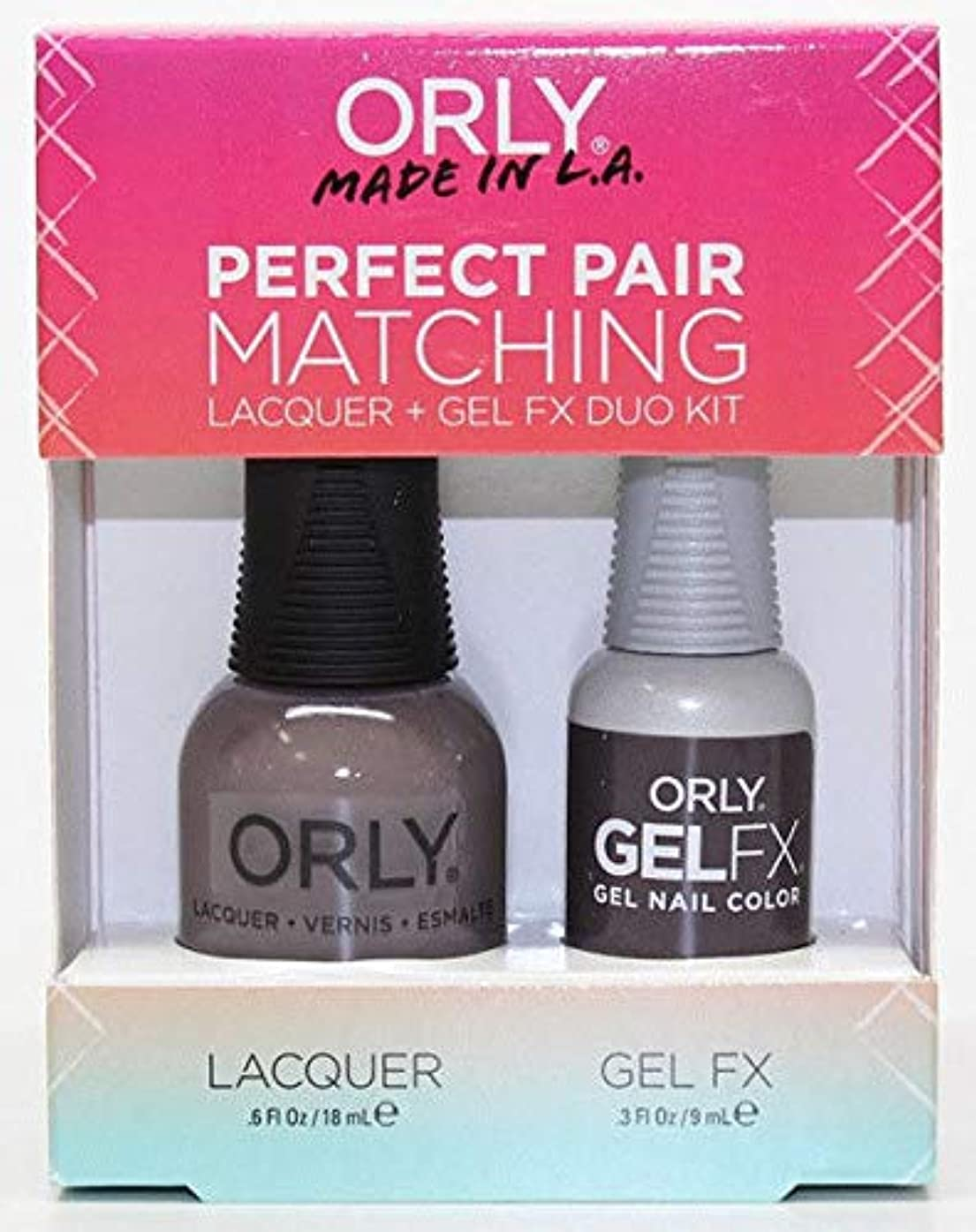 嵐口実寄託Orly - Perfect Pair Matching Lacquer+Gel FX Kit - Mansion Lane - 0.6 oz / 0.3 oz
