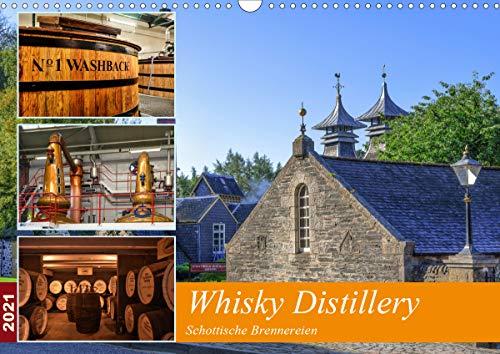 Whisky Distillery - Schottische Brennereien (Wandkalender 2021 DIN A3 quer)