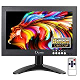 8 Inch Small Monitor Portable Secondary Display LCD Mini Panel Support HDMI VGA BNC AV Built-in Speakers w/Remote Control for Monitoring PC Laptop Raspberry Pi Camera CCTV