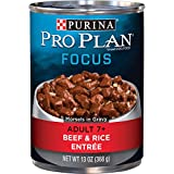 Purina Pro Plan Senior Gravy Wet Dog Food, FOCUS Morsels in Gravy Beef & Rice Entree - (12) 13 oz. Cans