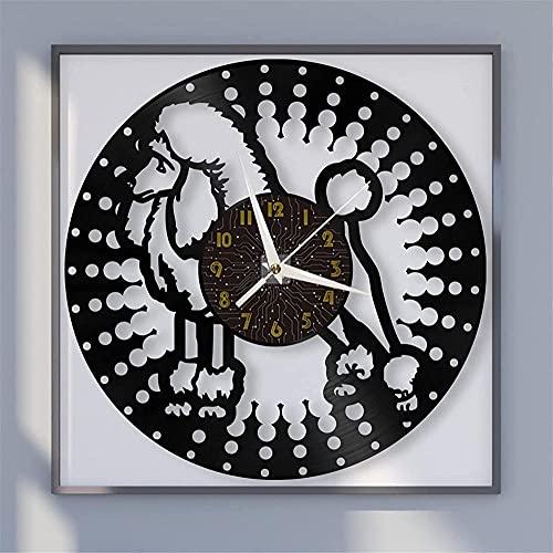 XYVXJ Amo el Tema de Nueva York Reloj de Pared con Disco de Vinilo Decoración del hogar para la Cocina Hogar Sala de Estar Dormitorio Escuela
