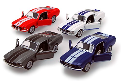 Kinsmart 1967 Shelby GT500, Set of 4 5372D - 1/38 Scale Diecast Model Toy Cars