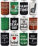 Juvale Bierdosenhüllen – 12 Stück Fußball Themen-Getränkehalter mit isolierten Bezügen,...