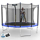Kinetic Sports Gartentrampolin TPLH12 (Ø 366 cm, blau)
