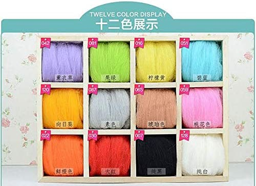 Xuccus 12 Colors Wool Inexpensive Felting Fees free fo Roving Materials Tools and