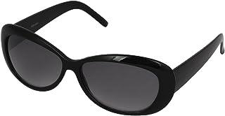 uxcell サングラス ファッション小物 ブラック グレー ブラック グレー シングルブリッジ レディメガネ