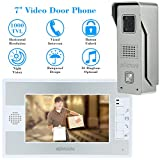 KKMOON 7 Inch Door Viewer Video Doorbell and Home Security Camera Monitor Intercom System Doorbell Entry Kit...