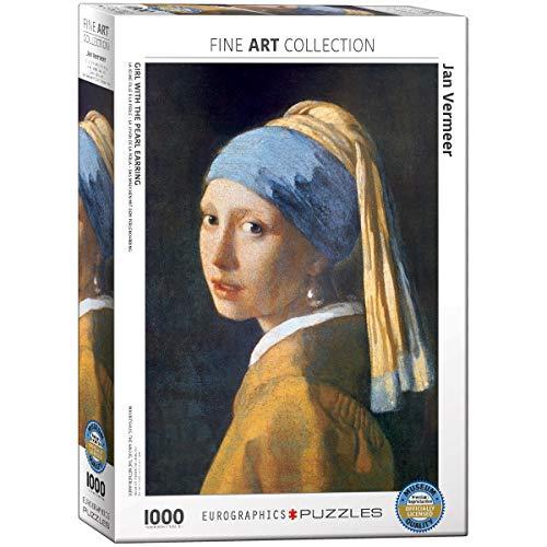 EuroGraphics Puzzle Das Mädchen mit dem Perlenohrring von Jan Vermeer