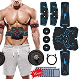 Abs Stimulator, Vcloo Muscle Toner Ab Workout EMS Muscle Trainer for Women