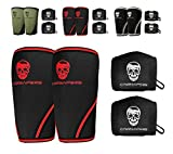 Elbow Sleeves (1 Pair) W/ Wrist Wraps - Elbow Brace For Support & Compression for Powerlifting, Weightlifting, Bench & Tendonitis - 5mm Neoprene - For Men & Women