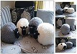 Kuschelkissen Schaf (Grau) Kuschel Kissen Plüsch Tier Deko Dekokissen Plüschtier