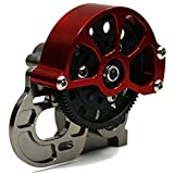 Que-T Full Metal Assembled Transmission Case /Gearbox with Straight Gear for 1/10 Axial SCX10 RC Model Crawler Car Titanium