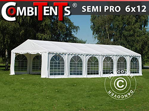 Dancover Partytent, SEMI PRO Plus CombiTents® 6x12m 4-in-1, Wit
