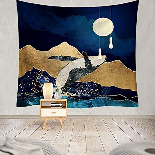 NTtie Tapices Decoración para Dormitorio o Sala de Estar, Impresión Multifuncional Serie Sunset Landscape