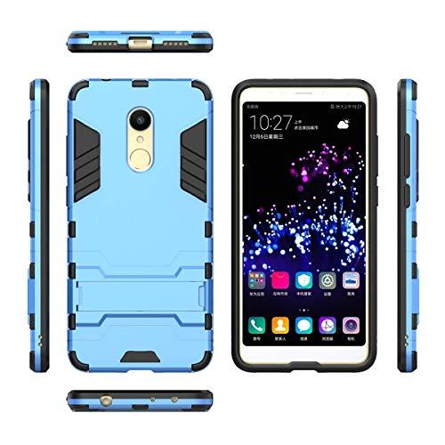 tinyue® Funda para Xiaomi Redmi Note 4 / Note 4X, Soft TPU + Duro PC Doble Parachoques Cubierta a Prueba de Golpes con Soporte y Carcasa Desmontable, Funda Protectora Serie Armadura, Azul