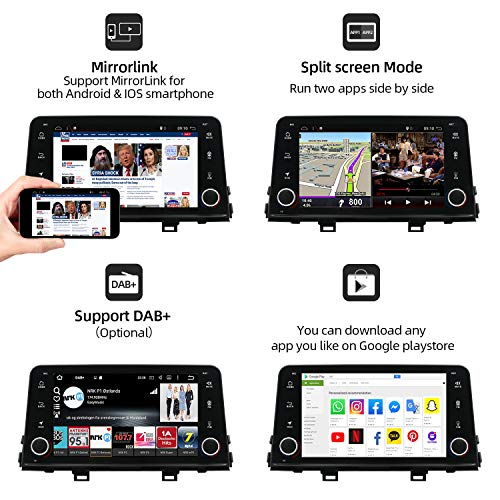 Android 8.1 Double Din Car Stereo for KIA Picanto Morning 2017 | Octa Core 2G+32G 8 Inch | Car GPS Navigation Multimedia Player Support Steering Wheel Control 3G/4G WiFi TPMS Mirror Link Free Camera